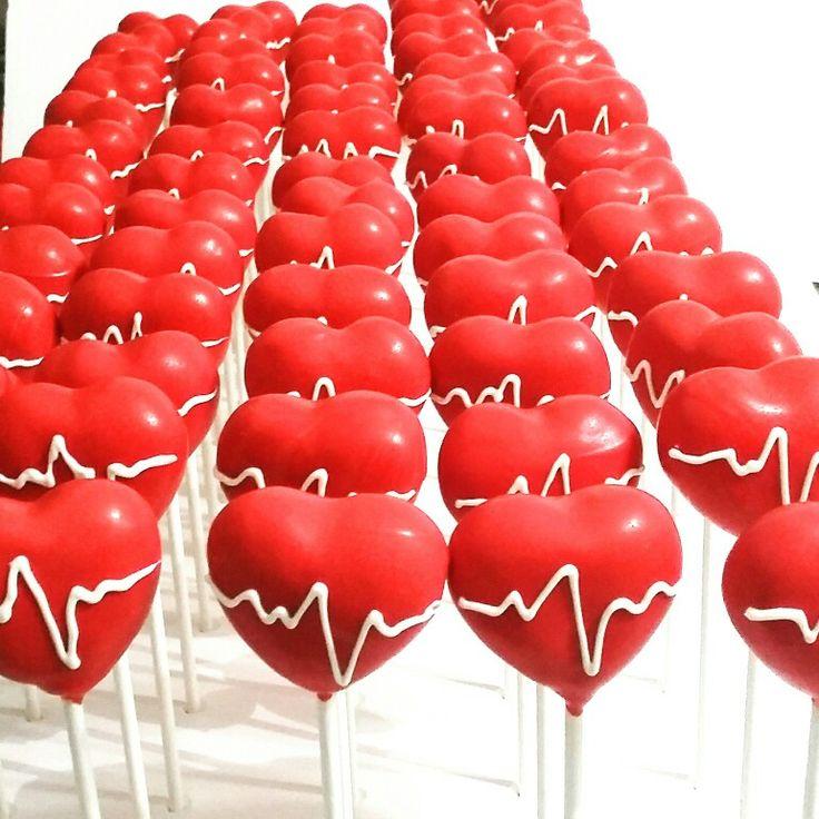 EKG heart cake pops #nurse #nurses #nursecakepops #nursesweek #nurseappreciation