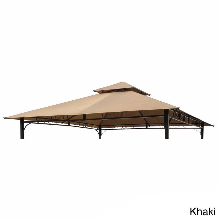 International Caravan St Kitts Replacement Canopy For 10 Foot Vented Gazebo Terracotta Orange Size X Microfiber YF 3136B CNY