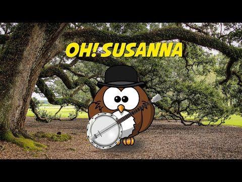 Oh! Susanna (children's song - instrumental - lyrics video for karaoke) - YouTube