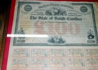 CIVIL WAR BOND, South Carolina Confederate War Bond, Matted and Framed by VintagePerformance on Etsy