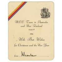 Holcombe Douglas Read. Essex, Surrey & England 1933-1935. Official M.C.C. Christmas card
