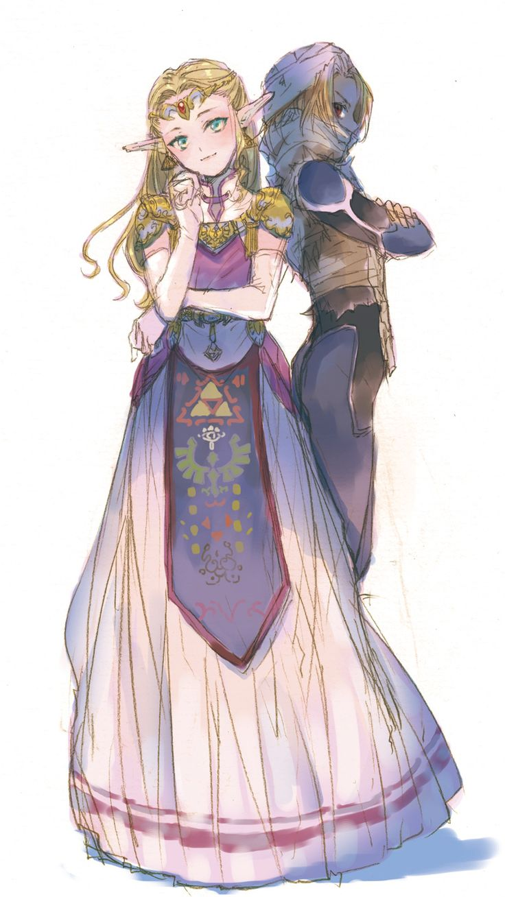 the sides of zelda. (Zelda & shiek)