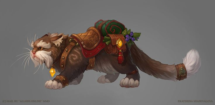 Cat mounts - Allods Online concept art. Finally... - Loin des balles