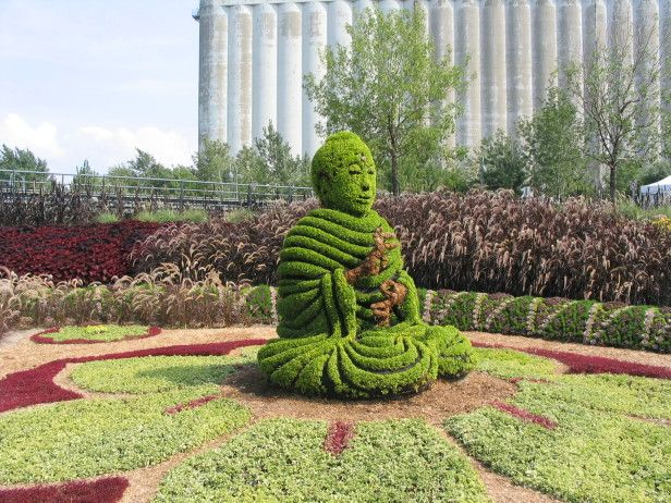 Buddha And The City Of Seven Cities, Representing New Delhi, India, Was One  Of The Larger Than Life Garden Sculptures Featured In The 2003 Mosaiculture  Show ...