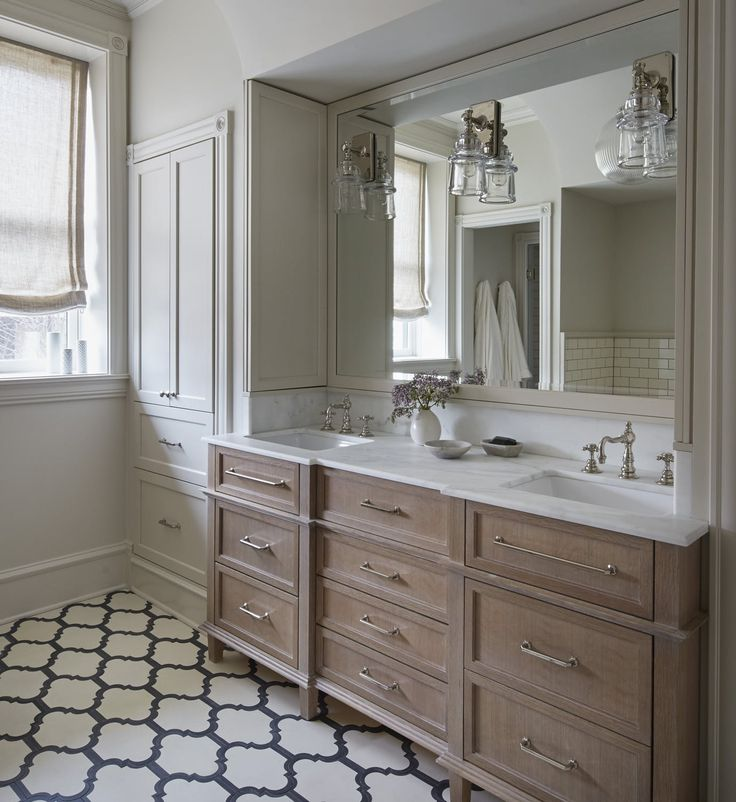 Grey Large Bathrooms, Large Format And Ensuite