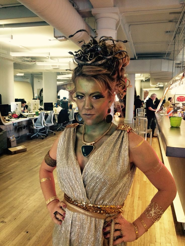 Halloween 2015 medusa, and it won the office costume contest!  #haloween #medusa #diy