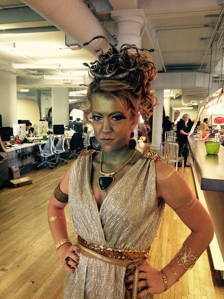 Halloween 2015 medusa, and it won the office costume contest!  #haloween #medusa #diy