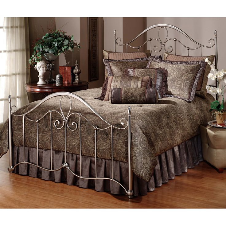 doheny pewter metal bed by hillsdale furniture mtal and iron beds