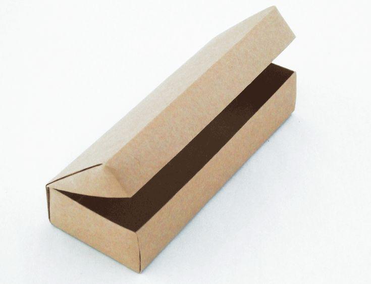 ふた付き1枚折りの箱(デラックス版) Origami box with a lid (very neat!)