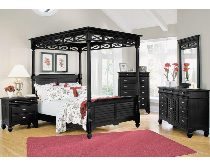 American signature furniture plantation cove black canopy bedroom my next bedroomset