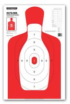 B27Q-RED Silhouette Law Enforcement & Qualification Pistol Shooting Targets by Thompson