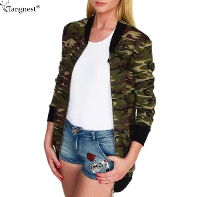 Fair price TANGNEST Fashion Military Style Women Jacket 2017 Spring Brand New Hot Lightweight Jackets Camouflage Pattern Outwear CoatWWJ797 just only $17.98 with free shipping worldwide  #womanjacketscoats Plese click on picture to see our special price for you