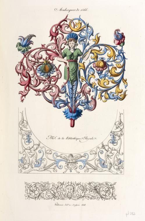 Arabesques de 1566. MS. de la bibliothèque royale.