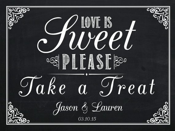 Lolly Buffet Candy Bar Sign Poster Ready to by AmyGemptonDesign