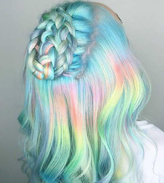 21 Einhorn Haarfarbe Ideen, die wir besessen sind