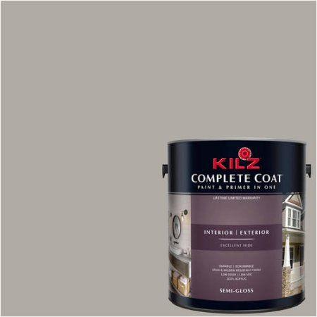Kilz Complete Coat Interior/Exterior Paint & Primer in One #RK230 Simply Neutral, 1 gal, Flat, Beige