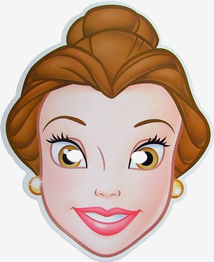 Belle Free Printable Masks.