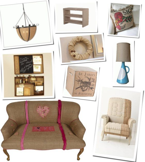 burlap furniture | Fall 2011 Burlap Furniture