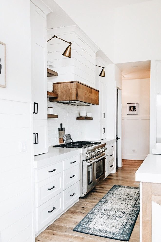 unique use of wood accents in a kitchen