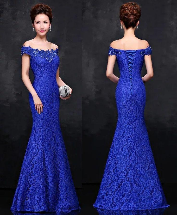 Vestido Longo Sereia Vestido De Festa - Casamento - Baile - R$ 216,57 em Mercado Livre