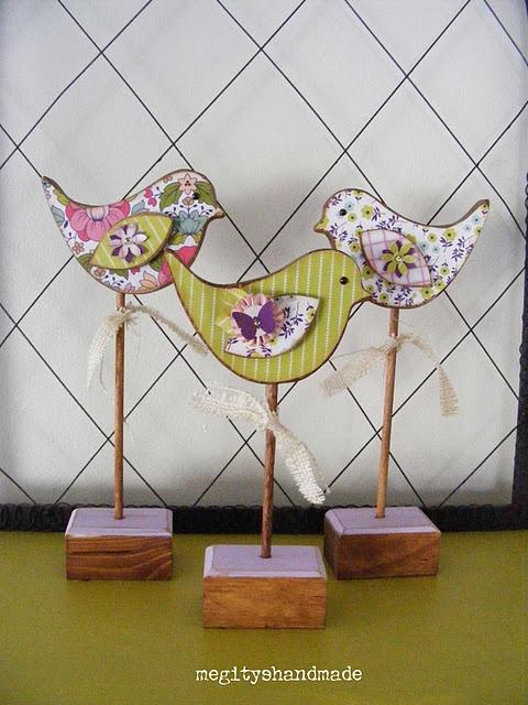 Cada coisa linda que vejo neste Pinterest ... maravilhas p festas e decorações!!! Birdies - spring time/easter