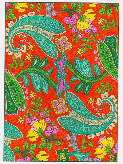 From The Paisley Designs Coloring Book By Marty Noble