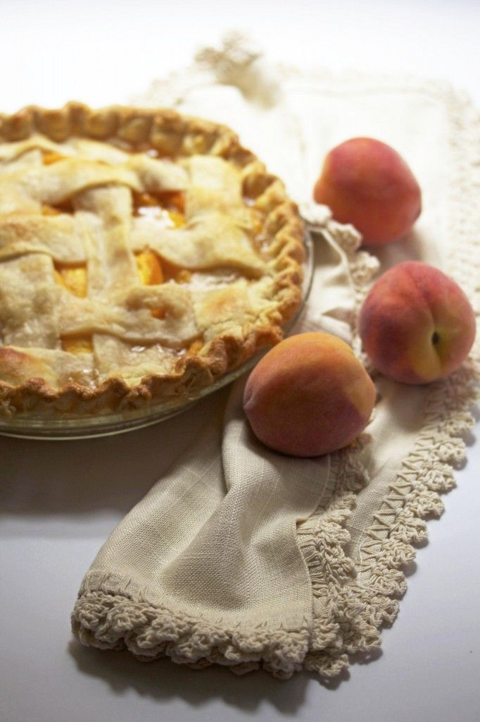 Fresh Peach Pie | www.grandbaby-cakes.com (fall desserts pie)