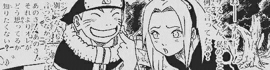 Idk what they are saying but its nice to see Sakura and Naruto get along