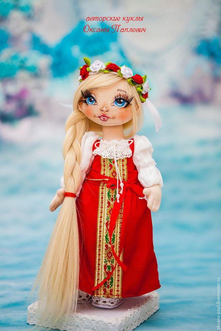 Купить Авторская текстильная кукла - ярко-красный, русская кукла, русская красавица, русская краса