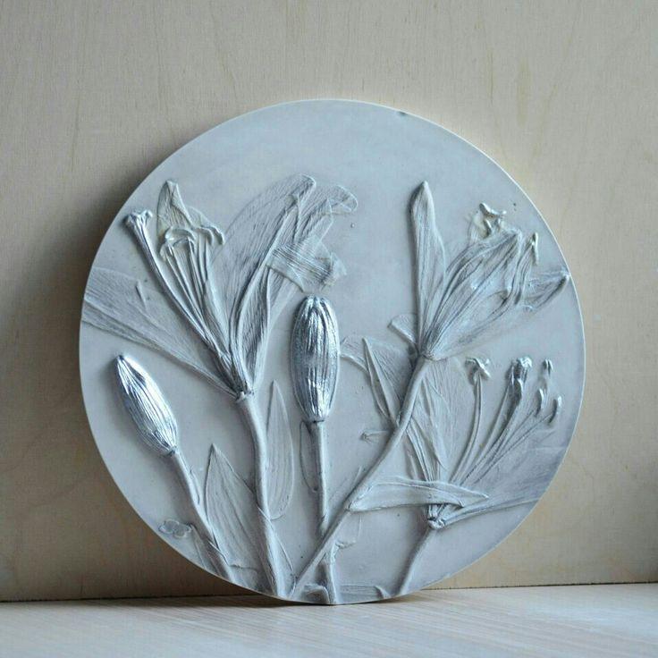 40 best Geschenk, Reliefbilder aus Gips, Blumen in Gips, Wand Deko ...