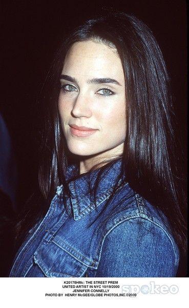 Jennifer Connelly in a denim jacket. Probably circa 2000.