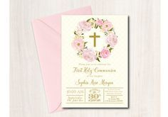 Best 25 Communion Invitations Ideas On Pinterest First