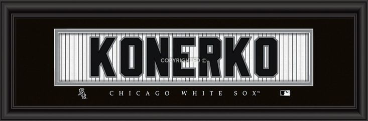 "Chicago White Sox Paul Konerko Print - Signature 8""x24"""