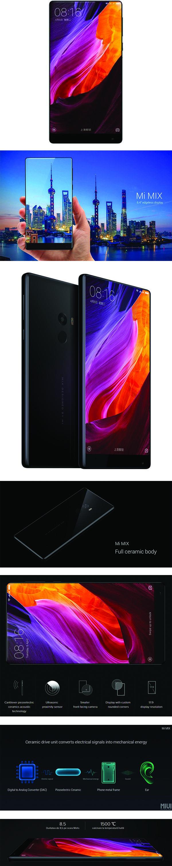 Telefon mobil Xiaomi Mi Mix Dual Sim 256GB LTE 4G Negru. Memorie interna 256 GB si memorie RAM 6GB; Display LCD IPS cu diagonala  6.4 inch si rezolutie 1080 x 2040 pixeli, 362 ppi; Camera principala de 16 Mp cu f/2.0, dual-LED flash, filmare 2160p cu 30 fps si camera secundara de 5 Mp; Procesor Qualcomm MSM8996 Snapdragon 821 Quad Core; Frecventa procesor 2x2.35 GHz Kryo & 2x1.6 GHz Kryo; baterie Li-Ion 4400 mAh Vezi pret, review si specificatii!