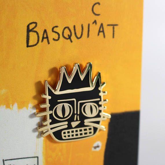 JEAN-MICHEL BASQUIAT LAPEL PIN BADGE NEO-EXPRESSIONIST PAINTER