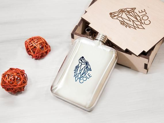Birthday Gift Engraved Wolf Flask Anniversary Gift for Husband Personalized Flask Christmas Gift Steel Flask 5Oz Original Gift for Boyfriend