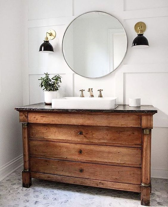 Dressers as Bathroom Vanities - Sundling Studio - 172 Best Old Dressers &SideboardsTurn Into Bathroom Vanity Images
