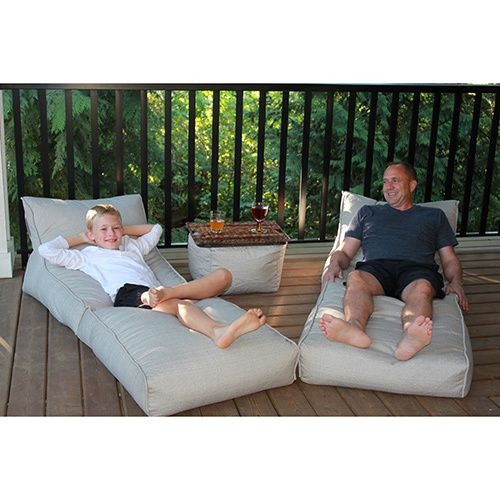 You will absolutely love lounging in the Outdoor Bean Bag Lounger Set. You can enjoy sitting upright in this chair or stretch out in style. Purchase these styles as a set for as many people as you like.
