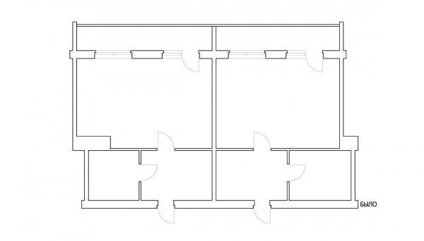 minimalist open apartment plan