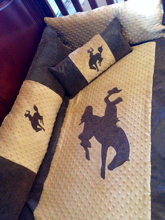 Hey, I found this really awesome Etsy listing at https://www.etsy.com/listing/168405842/western-cowboy-6-piece-baby-bedding-set