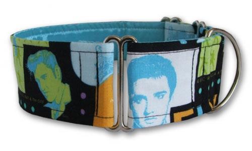 Hound Dog Elvis collar by Dogma London, available at Artsydog.