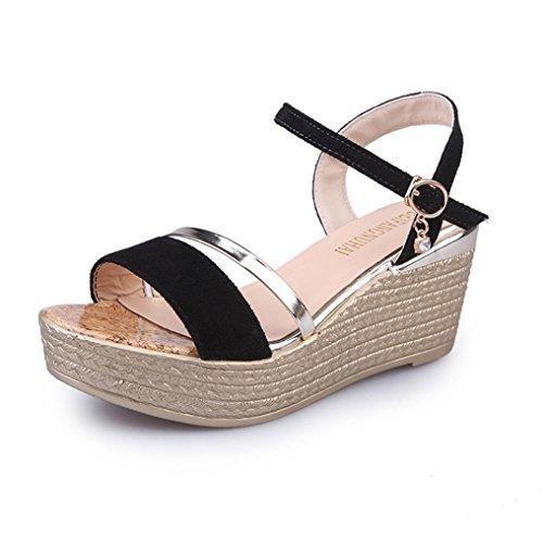 Oferta: 13€. Comprar Ofertas de Winwintom Verano muffin Cabeza de pescado zapatos sandalias de mujer sandalias de plataforma simple sacudió (40, Negro) barato. ¡Mira las ofertas!