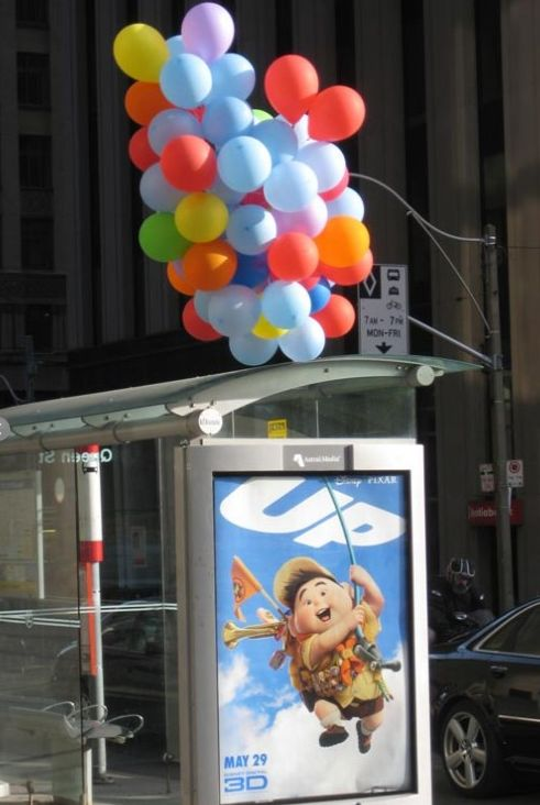 "Guerrilla Advertising of ""UP"". #marketing #pubblicità #spot #brand #comunicazione Seguici su www.victoriapartners.it"