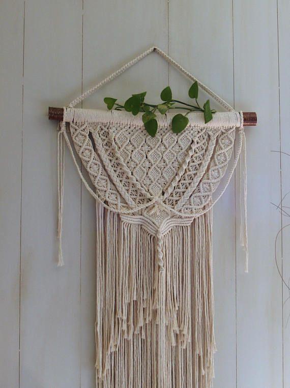 Macrame, Wall hanging, Vintage, Boho, Bohemian, Hippie