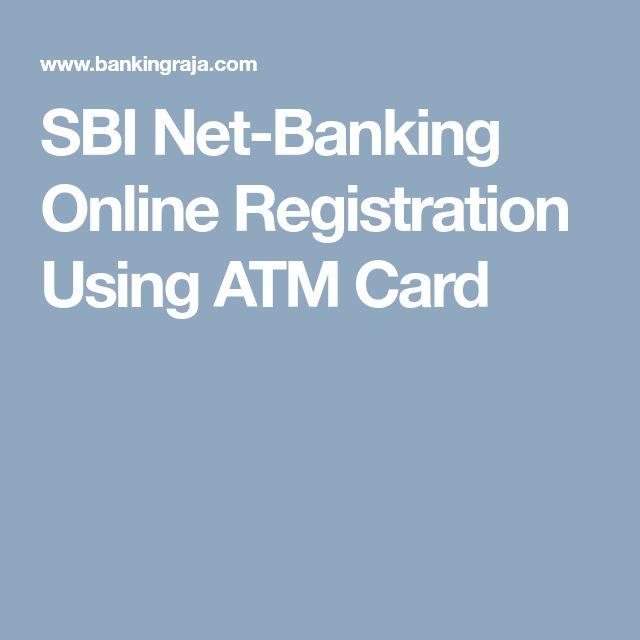 SBI Net-Banking Online Registration Using ATM Card