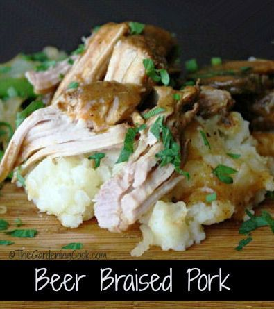 Beer braised pork roast