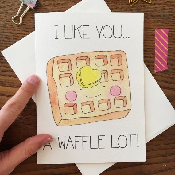 Waffle Greeting Card Breakfast Greeting Card by ARIllustration