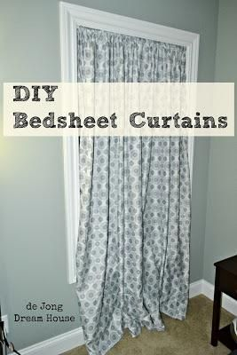 Why didn't I think of this?! Here I am racking my brain on how to find cheap curtains, when I could be making my own!