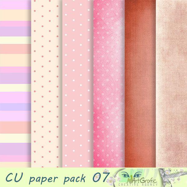 Papiery / tła ( zestaw komercyjny) CU vol 07