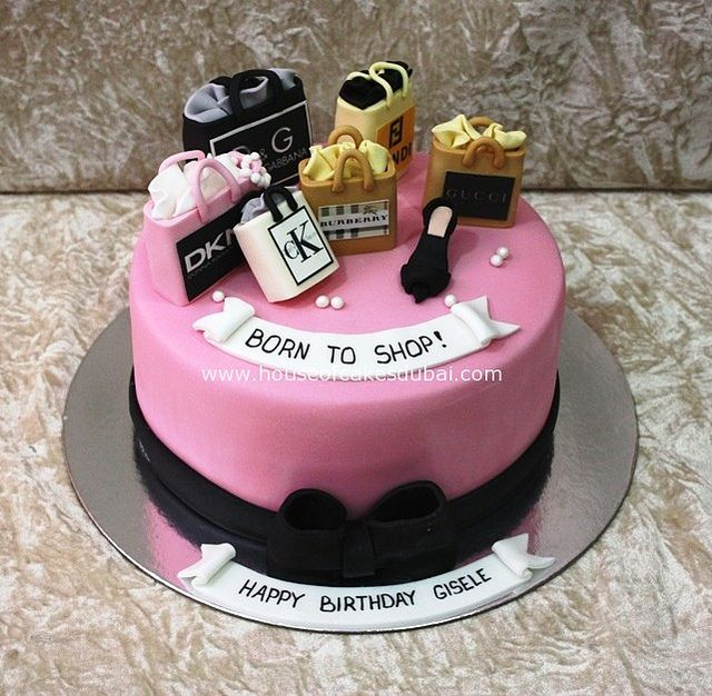 born to shop cake by The House of Cakes Dubai, via Flickr